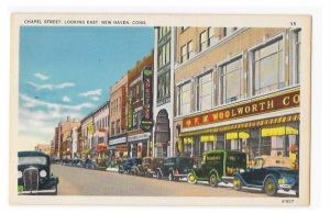 New Haven Postcard_Chapel Street